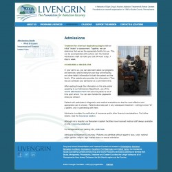 Livengrin Admissions Page