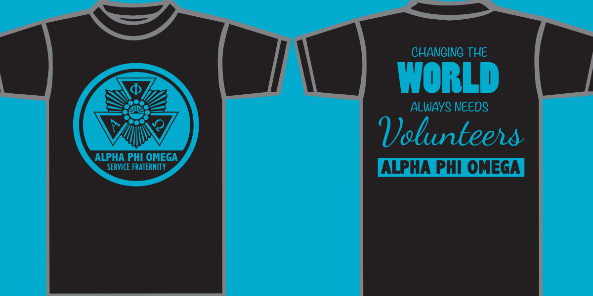 Delaware Valley University Alpha PHI Omega Front and Back